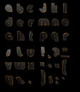 Gold black d letters abc on the background Royalty Free Stock Photo