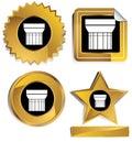 Gold and Black - Doric Column Royalty Free Stock Photo