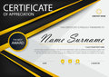Gold black Elegance horizontal certificate with Vector illustration ,white frame certificate template with clean and modern