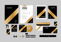 Gold, black and silver corporate identity template for your business 7 Royalty Free Stock Photo