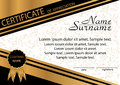 Gold and black template certificate of appreciation. Elegant bac