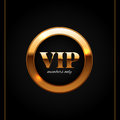Gold And Black Vip Label Shiny...
