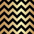 Gold and Black Zigzag Seamless Pattern