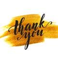 Zlato kaňka a slova poděkovat vy