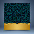 Gold and blue geometric abstract background Royalty Free Stock Photo
