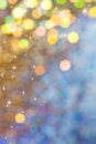 Gold and blue bokeh christmas background Royalty Free Stock Image