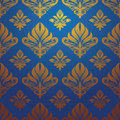 Gold blue pattern vector for background and wallpaper Stock Photography