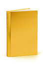 Gold book clipping path a golden cover hardcover on white with for maximum size Royalty Free Stock Photography