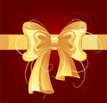 Gold bow Royalty Free Stock Photography