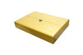 Gold box Royalty Free Stock Photo