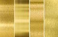 Gold or brass brushed metal texture backgrounds Royalty Free Stock Photo