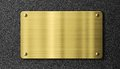 Gold or brass sign metal plate