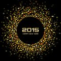 Gold Bright New Year 2015 Back...
