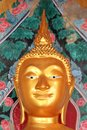 Gold buddha head in wat arun, Bangkok, Thaïland Royalty Free Stock Photo