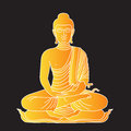 Gold buddha illustration of thai Stock Image
