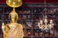 Gold buddha statue Stock Photo