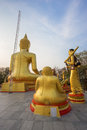 Gold buddha statue in pattaya thailand Stockbild
