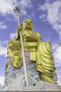 Gold buddha statue thailand chiness Stock Photo