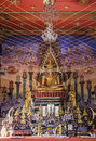 Gold buddha in temple at thailand Royalty Free Stock Photography