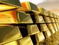 Gold Bullions Royalty Free Stock Photo