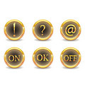 Gold buttons Stock Photography