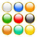 Gold buttons Royalty Free Stock Photos