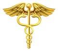 Gold Caduceus