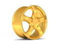 Gold car alloy wheel Stock Photo