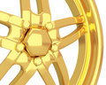 Gold car disc closeup Royalty Free Stock Photos