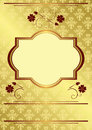 Gold card with vintage decorations - vector Royalty Free Stock Images