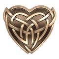 Gold Celtic heart