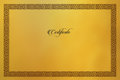 Gold Certificate background. Modern flat style- 21 JULY 2017.