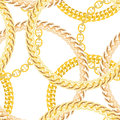 Gold Chain Jewelry Seamless Pattern Background Royalty Free Stock Photo
