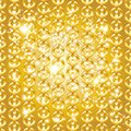 Gold chain seamless abstract pattern