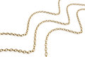 Gold chains Royalty Free Stock Photo