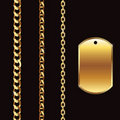 Gold Chains and tag Royalty Free Stock Images