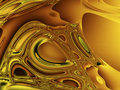 Gold Chaos Stock Image