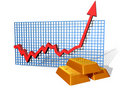 Gold chart Royalty Free Stock Photos