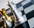 Gold Chess Queen Stock Images