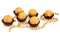 Gold Chocolate Balls Stock Images
