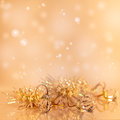 Gold Christmas background. Stock Image