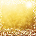 Gold Christmas Background Whit...