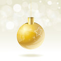 Gold christmas ball illustration background Stock Photography