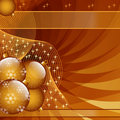 Gold christmas balls abstract Stock Photo