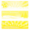Gold christmas banners Stock Image