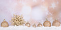 Gold Christmas Bauble and Star Royalty Free Stock Photo