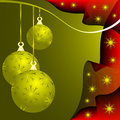 Gold Christmas Baubles Stock Photography