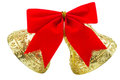 Gold Christmas Bells Royalty Free Stock Photo