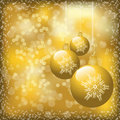 Gold Christmas Design Stock Images