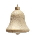 Gold christmas hand bell Royalty Free Stock Photography